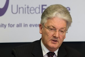 Peter Dunne constantly looked natural when seizing every opportunity to speak. Photo / Mark Mitchell