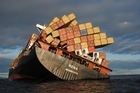 The wreck of the container ship Rena off the coast of Tauranga Bay of Plenty. Photo / File