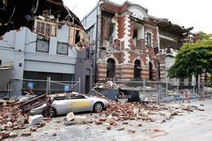 Destruction in Manchester Street in Christchurch's CBD. Photo / Brett Phibbs