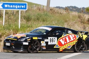 Tony Quinn in his Nissan GTR. Photo / APN