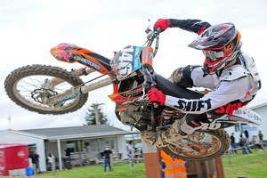 Micah McGoldrick (KTM), of Rangiora, is a young rider to watch this summer. Photo / Andy McGechan