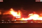 Witnesses described a wall of fire. Photo / Sky