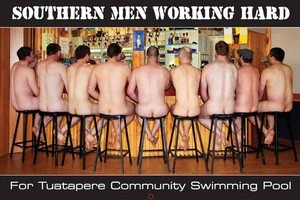 The Southern Men Working Hard - Naked Fundraiser 2012. Photo / Supplied