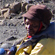 Guide Harold at Gilmans Point on the crater rim of Kilimanjaro. Photo / Vanessa James