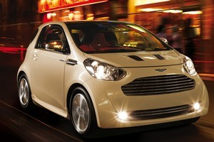 Aston Martin's Cygnet is based on a Toyota iQ. Photo / Supplied