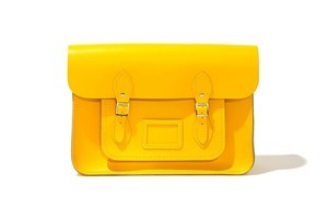"The Cambridge Satchel Company has a variety of colours available for the fashion savvy, including this 11"" yellow leather satchel, $199. Photo / Supplied"