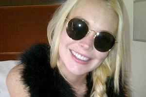 Lindsay Lohan has a new set of teeth. Photo / Twitter