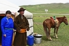 Visitors to Mongolia's national parks can stay in a traditional herder's ger. Photo / Jim Eagles