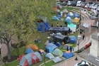 The Occupy Dunedin group has been living in tents in central Dunedin's Octagon for 19 days. Photo / Otago Daily Times