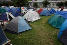 I'm sure no one is celebrating the fact that there are growing numbers of have-nots in the developed world but it's difficult to imagine how camping in Aotea Square is going fix anything. Photo / Sarah Ivey