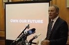 Phill Goff announced Labour's plans for the New Zealand Government's debt at a press conference in Wellington today.