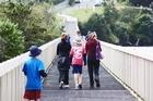 A fabulous boardwalk crosses the Orakei Basin. Photo / David O'Sullivan