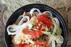 Chef Wan's Malaysian prawn and noodle salad. Photo / Janna Dixon