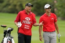 Golfer Adam Scott may be forced to sack Kiwi caddie Steve Williams after he publicly made racist remarks about former boss Tiger Woods. Photo / Getty Images