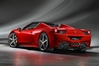 F1 driver Fernando Alonso drives Ferrari's new 458 Spider.