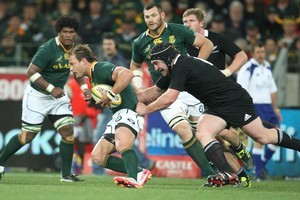 New Zealand will play the Springboks in Dunedin on September 15 next year. Photo / Getty Images