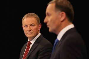Phil Goff must make a serious dent in John Key's credibility to have any chance of winning the election. Photo / Getty Images