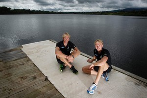 Eric Murray (left) and Hamish Bond, named world rowing team of the year. Photo / Christine Cornege