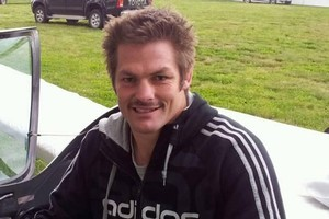Richie McCaw sports his Movember moustache. Photo / Supplied