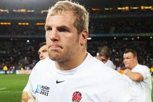 James Haskell of England has been hired to play for the Highlanders. Photo / Getty Images