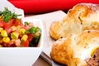 Empanadas with tomato salsa. Photo / Babiche Martens