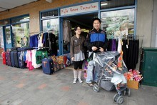 Small business owners Wayne Lin and Jing Jiao. Photo / Christine Cornege