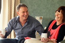Labour Party Leader Phil Goff and his wife Mary put on afternoon tea for Kerre Woodham at their home in Clevedon. Photo / Janna Dixon