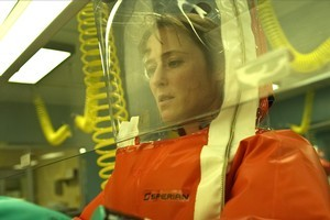 Jennifer Ehle's tireless backroom scientist Dr Ally Hextall in Contagion is one of the film's standout performances. Photo / Supplied