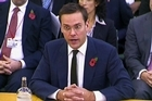 James Murdoch speaks during his second appearance before British MPs investigating the country's phone hacking scandal in London, Thursday, Nov 10. Photo / via APTN
