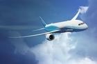 Boeing's new Dreamliner aeroplane. Photo / Supplied