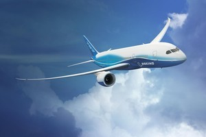 Boeing's new Dreamliner aeroplane. Photo / Supplied