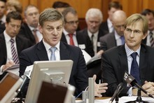 Finance Minister Bill English (left) and Treasury deputy chief executive Andrew Kibblewhite. Photo / Mark Mitchell