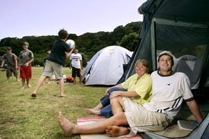 Whakanewha Regional Park on Waiheke Island is a great place for a family camp. Photo / Jeff Brass
