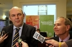 Minister of Transport, Steven Joyce and Mayor Len Brown. Photo / Paul Estcourt