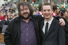 New Zealand film director Peter Jackson with actor Elijah Wood, who plays hobbit Frodo Baggins. Photo / Mark Mitchell
