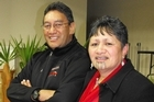 Hone Harawira and Jennifer Waitai-Rapana at the Wanganui Mana Movement Hui. Photo / APN
