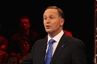 Phil Goff and John Key debate at TVNZ studios. Photo / Getty Images