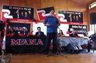 Hone Harawira at the Mana party launch. Photo / Jason Dorday