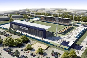 The newly proposed stadium for Christchurch will seat 17000 but could be extended to 26000 for major games. Photo / supplied