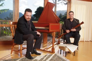 Indra Hughes (harpsichord) and Ben Hoadley (dulcian) from the Musica Sacra Concert. Photo / Supplied