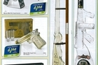 Liquor bottles designed in the shape of guns, available in the latest Chrisco catalogue. Photo / Supplied