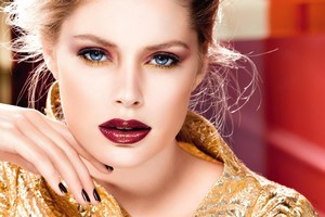 L'Oreal Paris has gold at the heart of its limited edition L'Or collection for nails, lips and eyes. Photo / Supplied