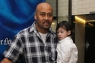 Jonah Lomu says he wakes every morning grateful that he can see his family. Photo / Paul Estcourt