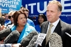 John Key and Paula Bennett announce National's welfare  crackdown. Photo / Richard Robinson