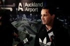 All Black Zac Guildford arrived back in Auckland this morning from Rarotonga. Photo / Sarah Ivey
