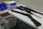Cash and firearms were seized along with pills and drug manufacturing equipment during Operation Ark. Photo / Sarah Ivey