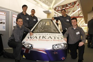 The University of Waikato solar car was officially certified as being roadworthy last week. Photo / Supplied
