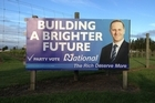 A defaced billboard in Christchurch. Photo / Supplied