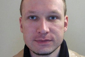 A 2009 file image issued by Norwegian police on Oct. 28, 2011, shows confessed mass killer Anders Behring Breivik in a passport photo. Photo / AP