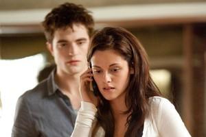 Edward (Robert Pattinson) and Bella (Kristen Stewart) make it down the aisle in Breaking Daen: Part 1. Photo / Supplied